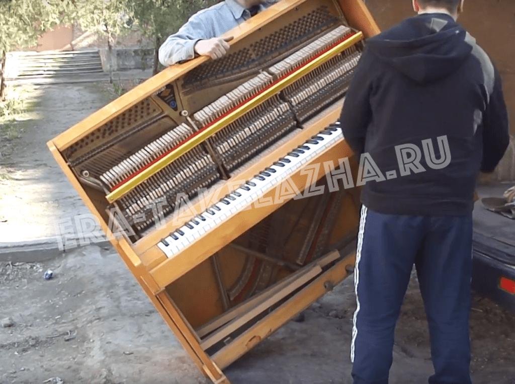 Перевозка фортепиано-такелаж